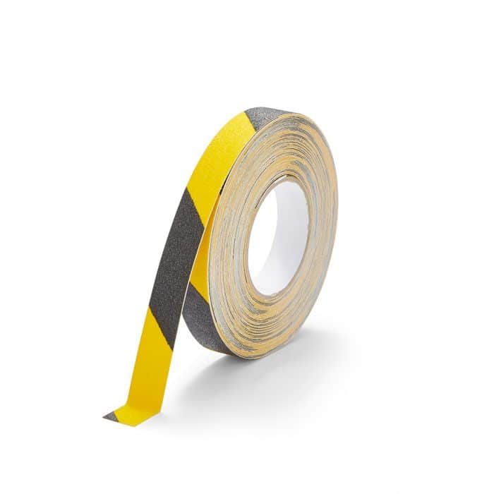 GripFactory Antislip Standaard Tape - rol 25 mm zwart/geel - 3000004-BY