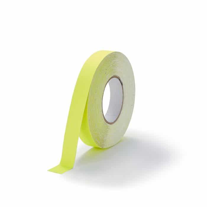 GripFactory Antislip Standaard Tape - rol 25 mm fluoriserend geel - 3000004-FY