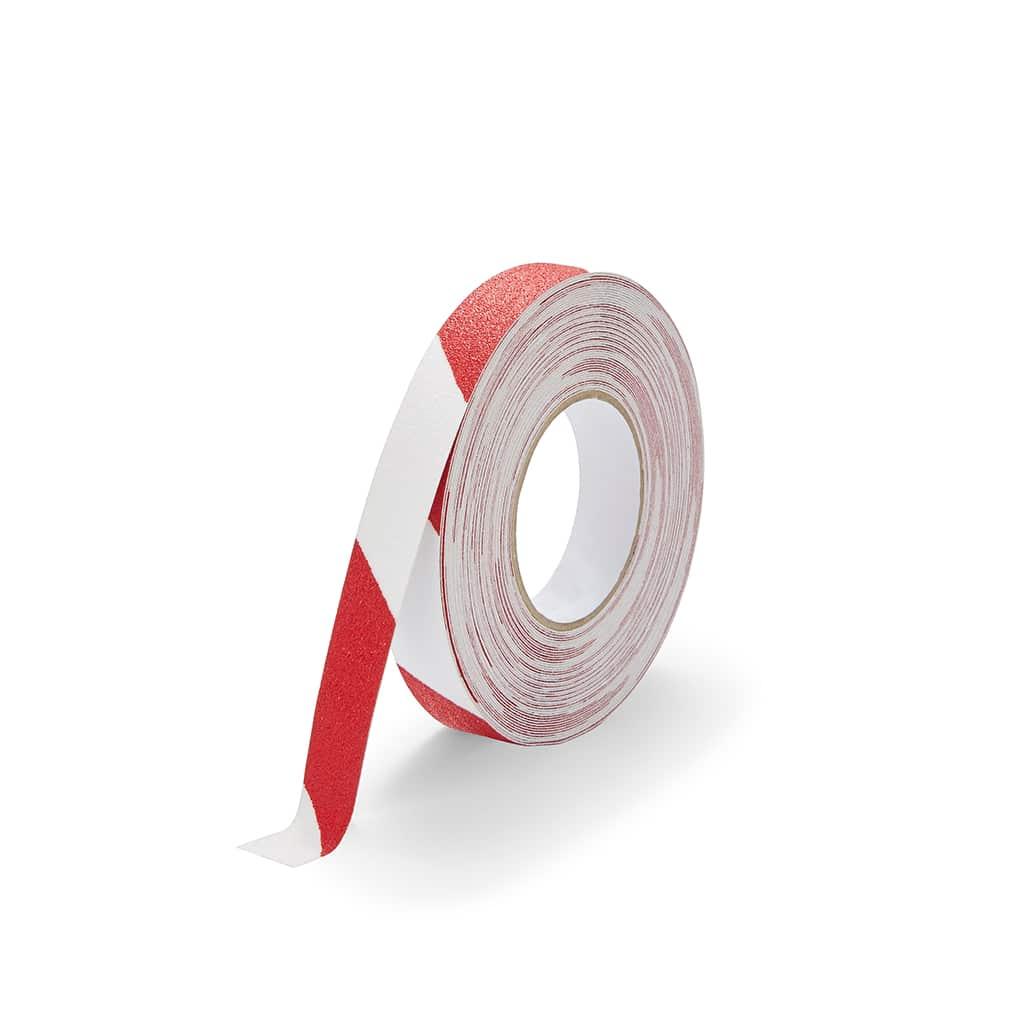 GripFactory Antislip Standaard Tape - rol 25 mm rood/wit - 3000004-RW
