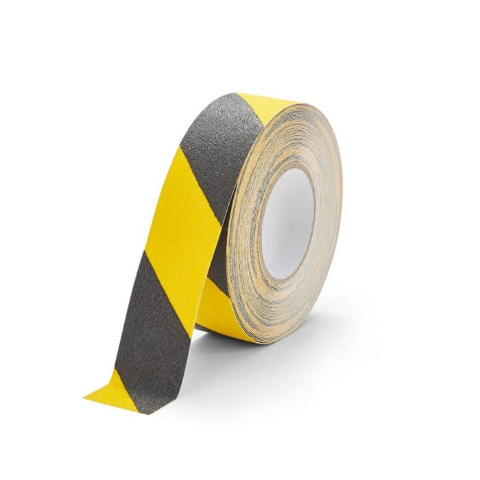 GripFactory Antislip Standaard Tape - rol 50 mm zwart/geel - 3000005-BY