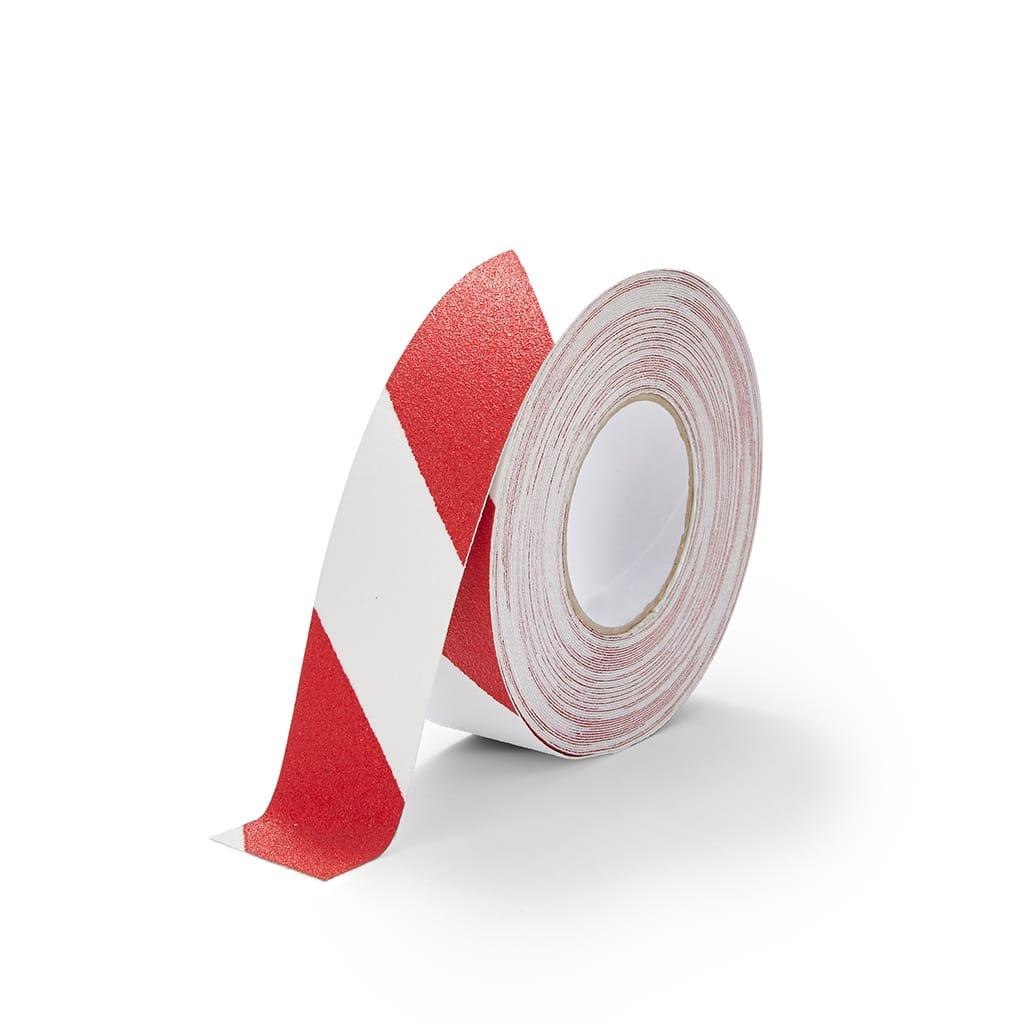 GripFactory Antislip Standaard Tape - rol 50 mm rood/wit - 3000005-RW