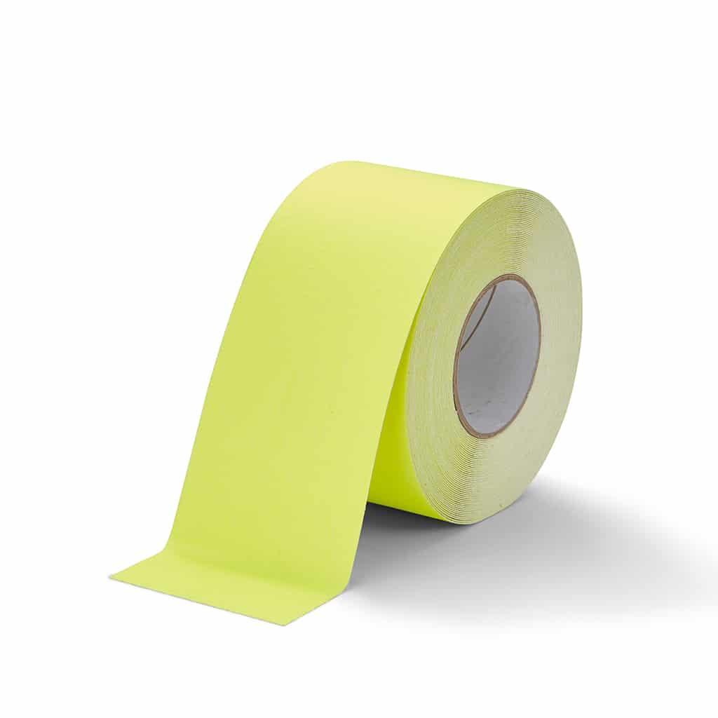 GripFactory Antislip Standaard Tape - rol 100 mm fluoriserend geel - 3000006-FY