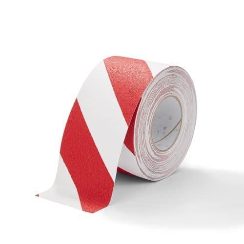 GripFactory Antislip Standaard Tape - rol 100 mm rood/wit - 3000006-RW