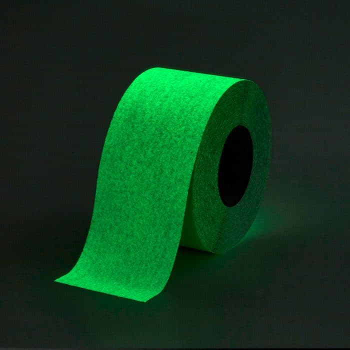 GripFactory Antislip Glow in the Dark Tape - rol 100 mm