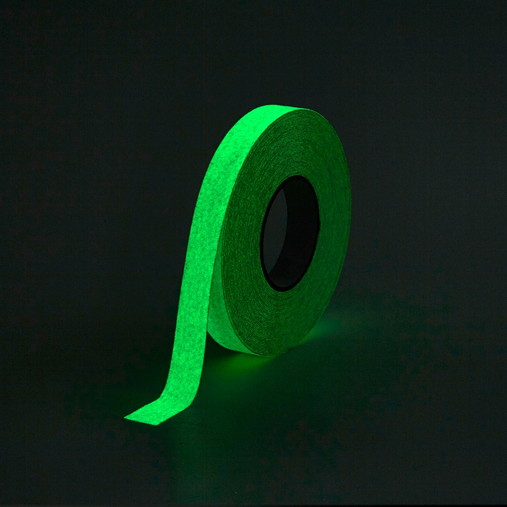 GripFactory Antislip Glow in the Dark Tape - rol 25 mm
