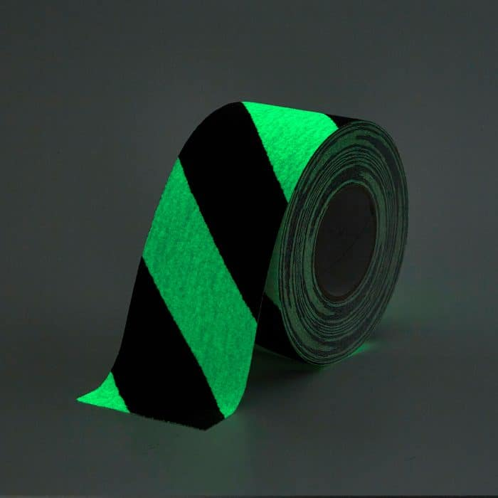 GripFactory Antislip Glow in the Dark Tape - rol 100 mm gevaar