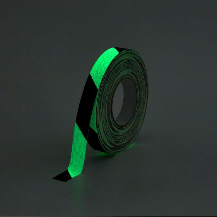 GripFactory Antislip Glow in the Dark Tape - rol 25 mm gevaar