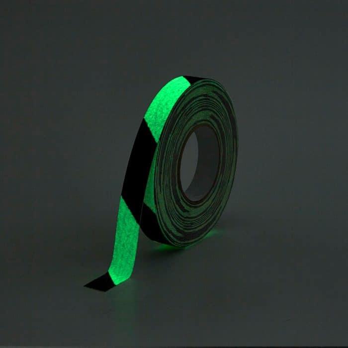 GripFactory Antislip Glow in the Dark Tape - rol 25 mm gevaar